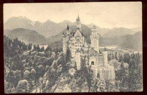 ALTE POSTKARTE SCHLOSS NEUSCHWANSTEIN Bayern König Ludwig II. King Ludwig Bavaria château bavière cpa postcard