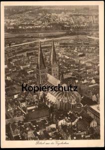 ALTE POSTKARTE LÜBECK LUEBECK BLICK AUS DER VOGELSCHAU Luftbild Fliegeraufnahme AK Ansichtskarte cpa postcard