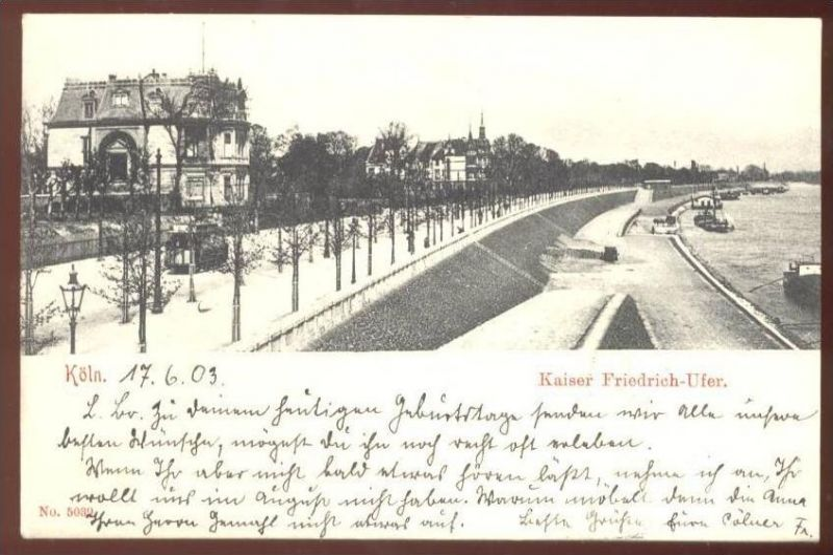 ALTE POSTKARTE KÖLN Kaiser Friedrich Ufer erkennbar Straßenbahn Strassenbahn tram tramway AK Ansichtskarte cpa postcard