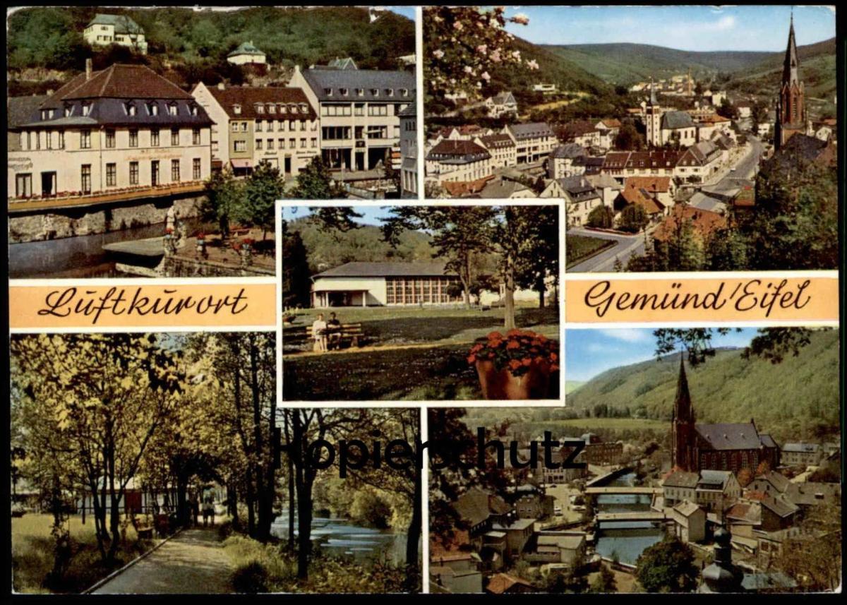 ÄLTERE POSTKARTE GEMÜND SCHLEIDEN EIFEL cpa postcard AK Ansichtskarte