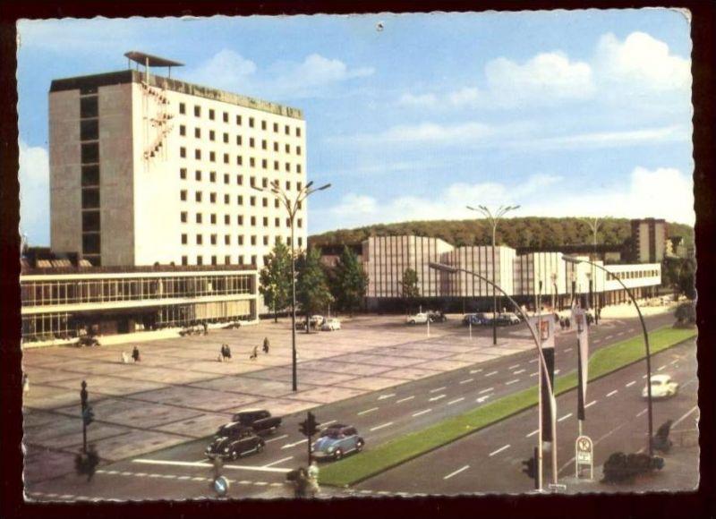 ÄLTERE POSTKARTE WOLFSBURG Kulturzentrum Rathaus mit VW Käfer Kefer Coccinelle Volkswagen Ansichtskarte AK postcard cpa