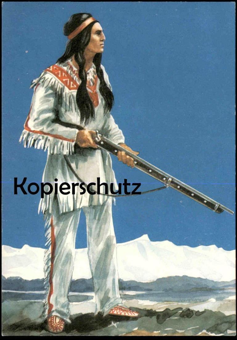 ÄLTERE KÜNSTLER POSTKARTE KARL MAY WINNETOU Indianer indian indien Ansichtskarte AK postcard cpa