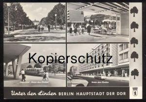 ÄLTERE POSTKARTE BERLIN HAUPTSTADT DER DDR UNTER DEN LINDEN LINDENCORSO INTERHOTEL BRANDENBURGER TOR Kinderwagen Bus AK