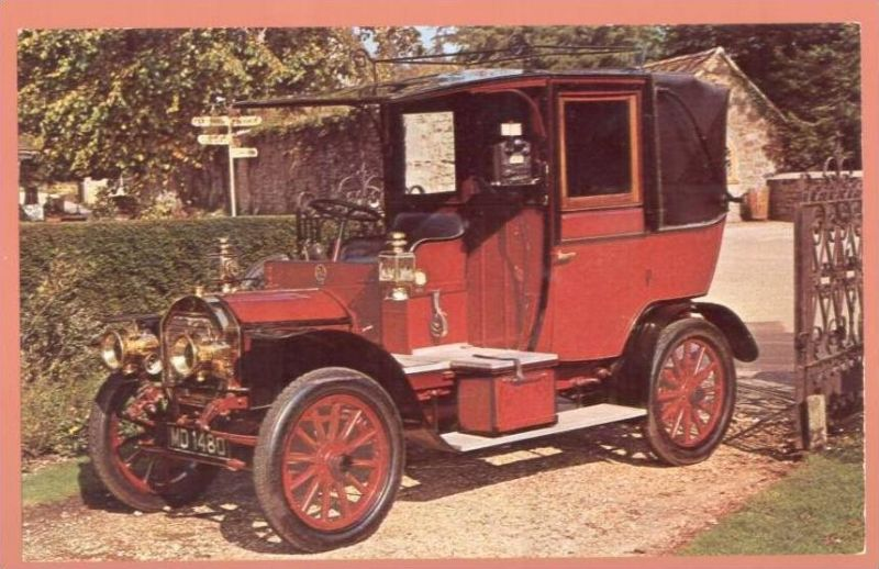 ÄLTERE POSTKARTE 1908 UNIC CAB TAXI old car Auto Oldtimer Voiture AK Ansichtskarte cpa postcard
