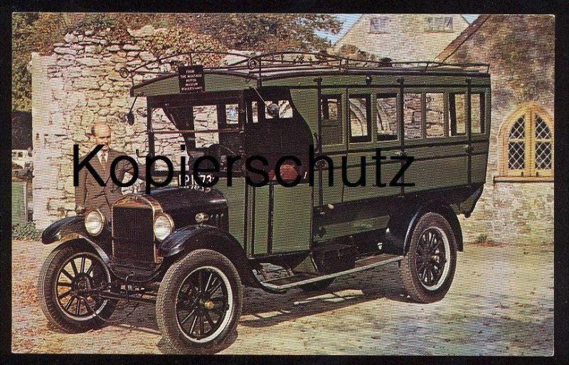 ÄLTERE POSTKARTE FORD TT BUS MONTAGU MOTOR MUSEUM old car Auto Oldtimer Voiture Automobil AK Ansichtskarte postcard cpa