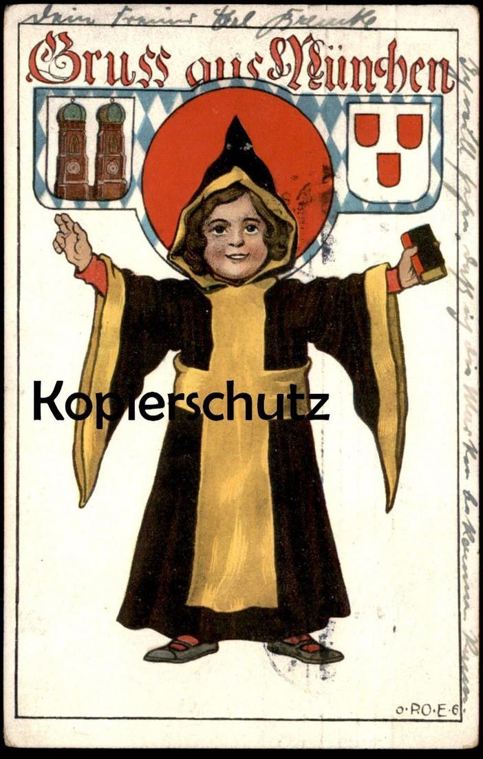 ALTE POSTKARTE MÜNCHEN Munich Münchner Kindl Verlag Ottmar Zieher Ansichtskarte AK postcard cpa
