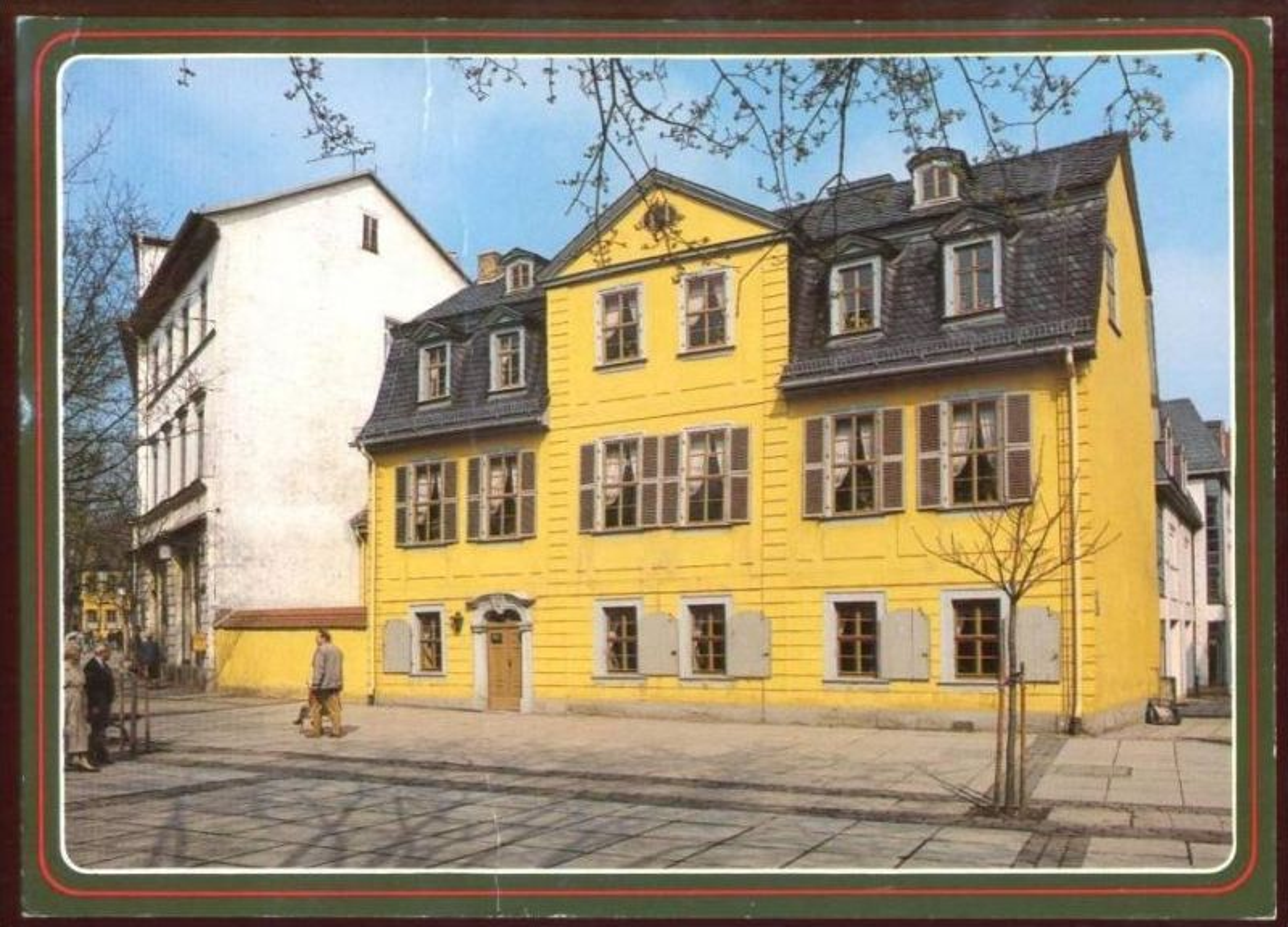 POSTKARTE WEIMAR FRIEDRICH SCHILLER HAUS Dichter Poet poète Ansichtskarte AK postcard cpa