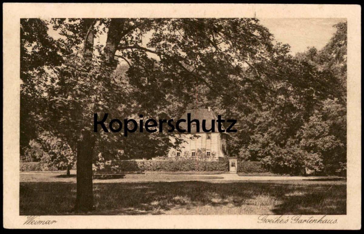 ALTE POSTKARTE WEIMAR GOETHE GARTENHAUS Dichter Poet poète Ansichtskarte AK postcard cpa
