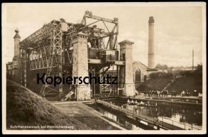 ALTE POSTKARTE SCHIFFSHEBEWERK HENRICHENBURG RUDERER KANAL ship´s lift ascenseur à bateau ascensor hoist canal rower cpa