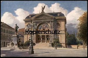 ALTE WIRO-POSTKARTE DÜSSELDORF KUNSTHALLE BISMARCKDENKMAL Denkmal Bismarck monument C. F. Wiedemann Künstlerkarte cpa