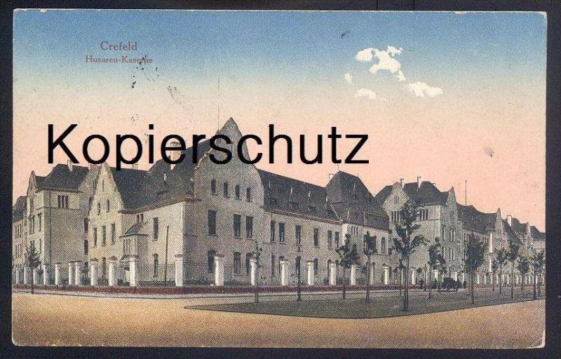 ALTE POSTKARTE CREFELD HUSAREN-KASERNE Krefeld caserne barracks Ansichtskarte AK postcard cpa