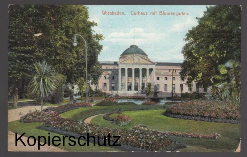 alte postkarte wiesbaden curhaus mit blumengarten ak cpa postcard ansichtskarte nr 485183445. Black Bedroom Furniture Sets. Home Design Ideas
