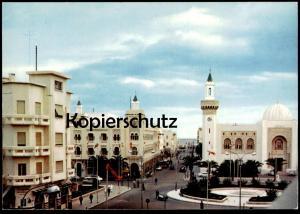 ÄLTERE POSTKARTE TUNISIE PLACE HEDI CHAKER ET PALAIS DE LA MUNICIPALITÉ Tunesien Tunisia Tunisie AK cpa postcard