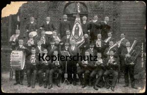ALTE POSTKARTE MUSIKVEREIN NEERSEN Willich Trommel Tuba Trompete Horn music cpa photo Foto postcard Ansichtskarte AK