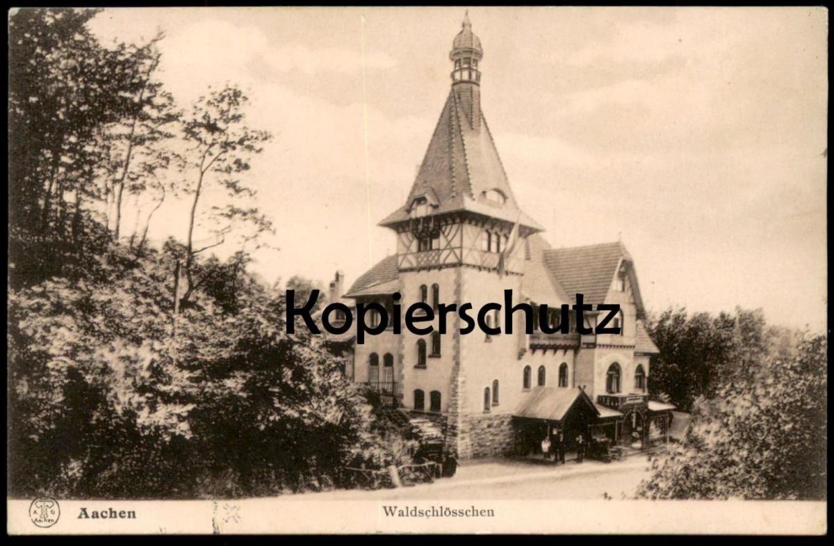 ALTE POSTKARTE AACHEN WALDSCHLÖSSCHEN postcard AK Ansichtskarte cpa