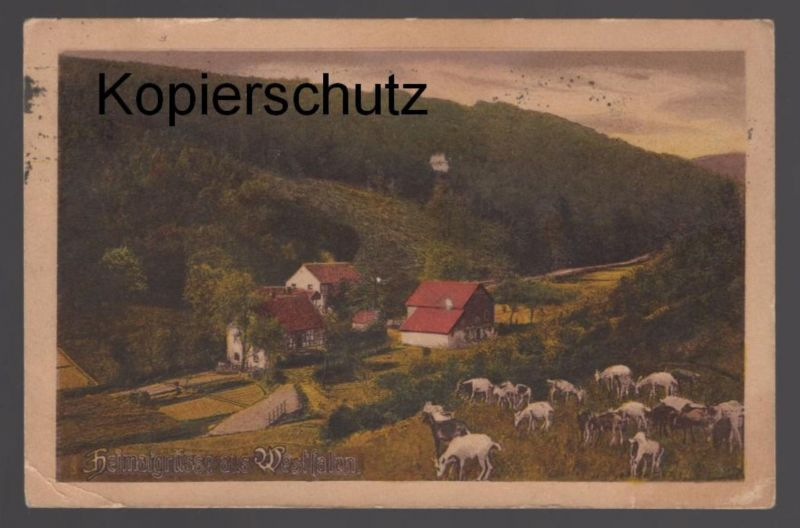 ALTE POSTKARTE HEIMATGRÜSSE AUS WESTFALEN Westfalenlied cpa Ansichtskarte AK postcard