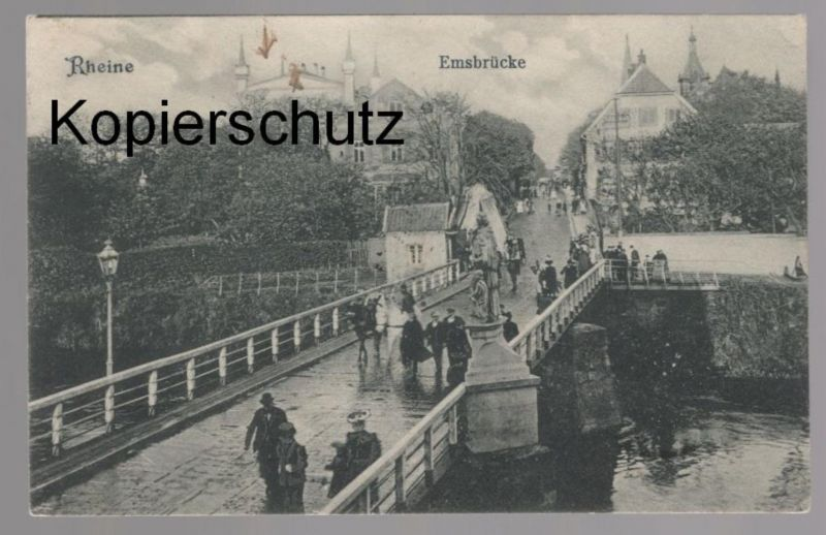 ALTE POSTKARTE RHEINE EMSBRÜCKE Brücke bridge pont Ansichtskarte cpa postcard AK