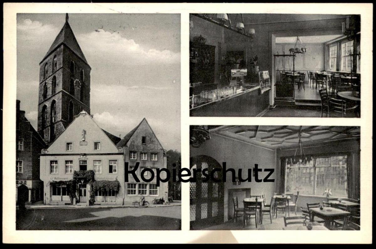ALTE POSTKARTE RATSSCHÄNKE RHEINE I. W. AM MARKT Ansichtskarte cpa postcard AK
