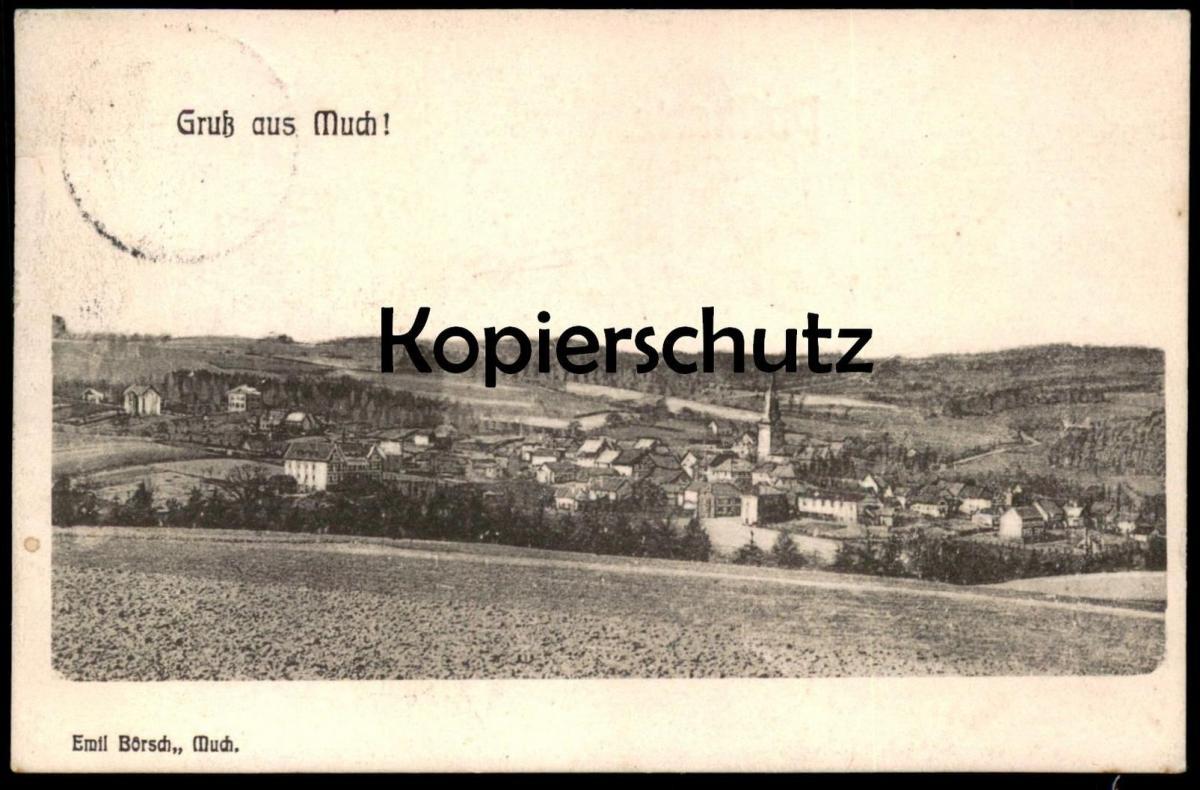 ALTE POSTKARTE GRUSS AUS MUCH Rhein-Sieg-Kreis Bergisches Land Ansichtskarte cpa postcard AK