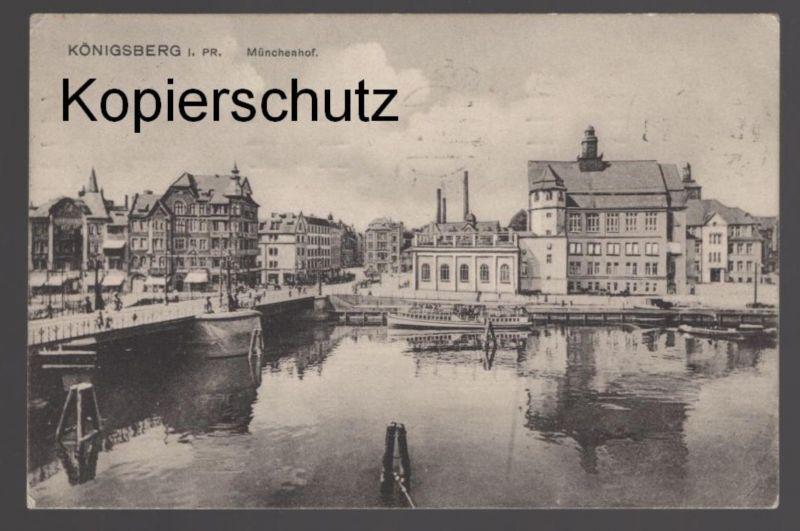 ALTE POSTKARTE KÖNIGSBERG I. PR. MÜNCHENHOF Ostpreussen Kaliningrad Ansichtskarte postcard cpa AK