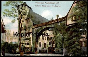 ALTE POSTKARTE GRUSS AUS MICHELSTADT I. O. SCHLOSS FÜRSTENAU TORBOGEN castle chateau postcard Ansichtskarte cpa AK