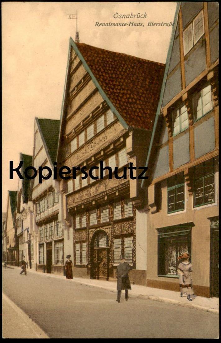ALTE POSTKARTE OSNABRÜCK RENAISSANCE-HAUS BIERSTRASSE postcard Ansichtskarte cpa AK