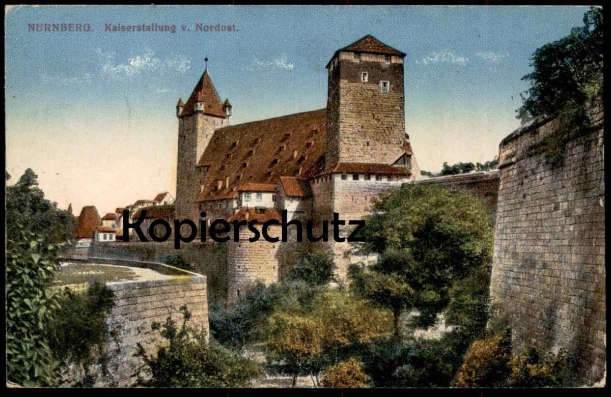ak n rnberg blick auf die kaiserstallung nr 6416632 oldthing ansichtskarten deutschland plz. Black Bedroom Furniture Sets. Home Design Ideas