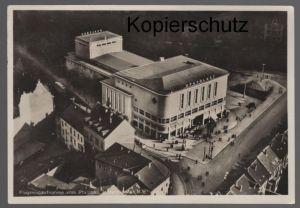 ALTE POSTKARTE FLUGZEUGAUFNAHME VOM PFALZBAU LUDWIGSHAFEN A. RH. UFA PALAST postcard Ansichtskarte cpa AK