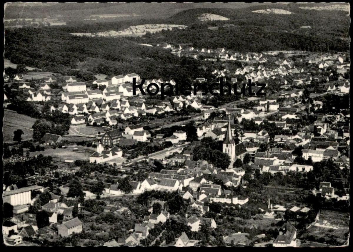 ÄLTERE POSTKARTE ORIGINAL LUFTFOTO LENGERICH I. WESTF. Luftbild Total AK postcard Ansichtskarte cpa
