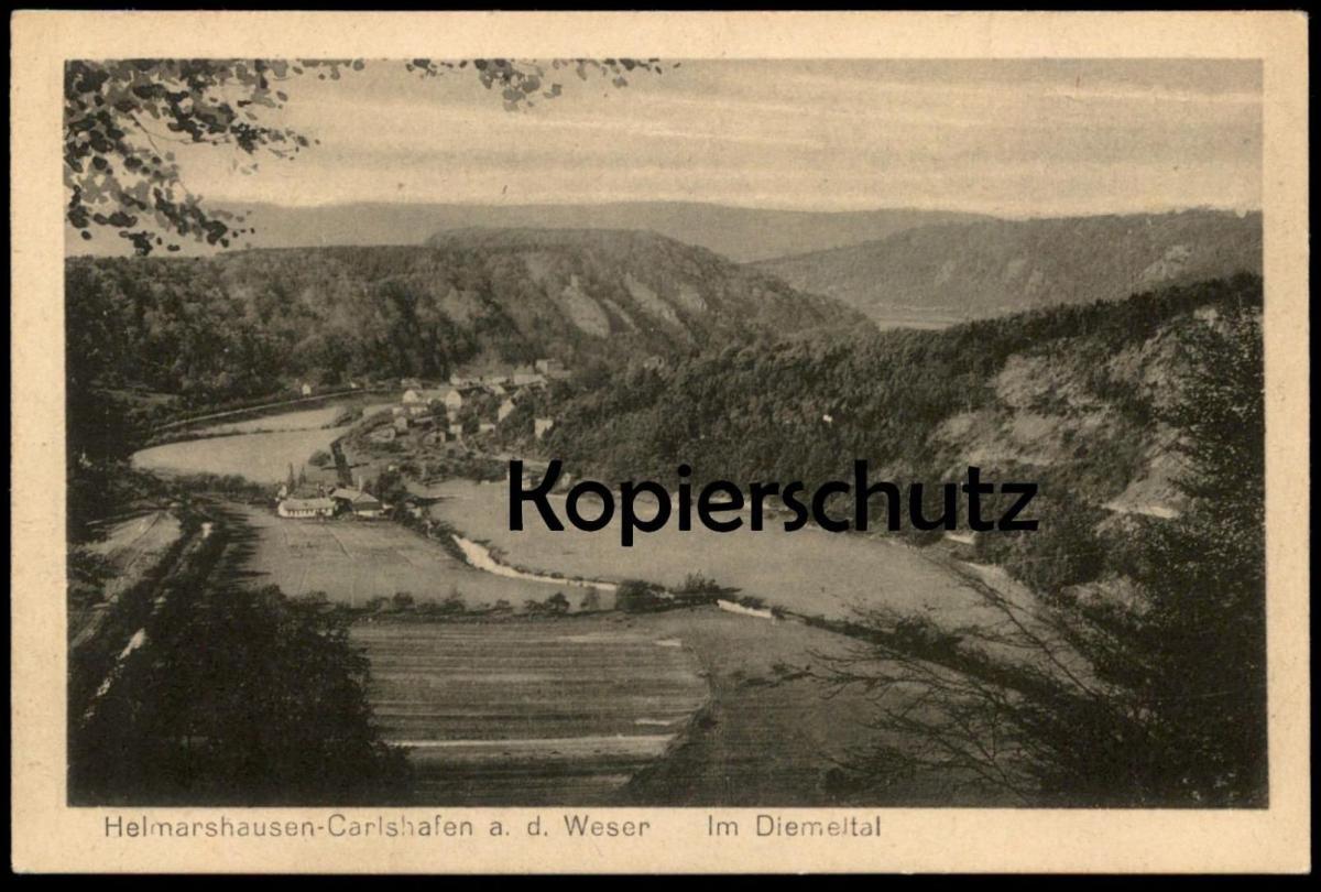 ALTE POSTKARTE HELMARSHAUSEN-CARLSHAFEN AN DER WESER IM DIEMELTAL BAD KARLSHAFEN Ansichtskarte postcard cpa AK
