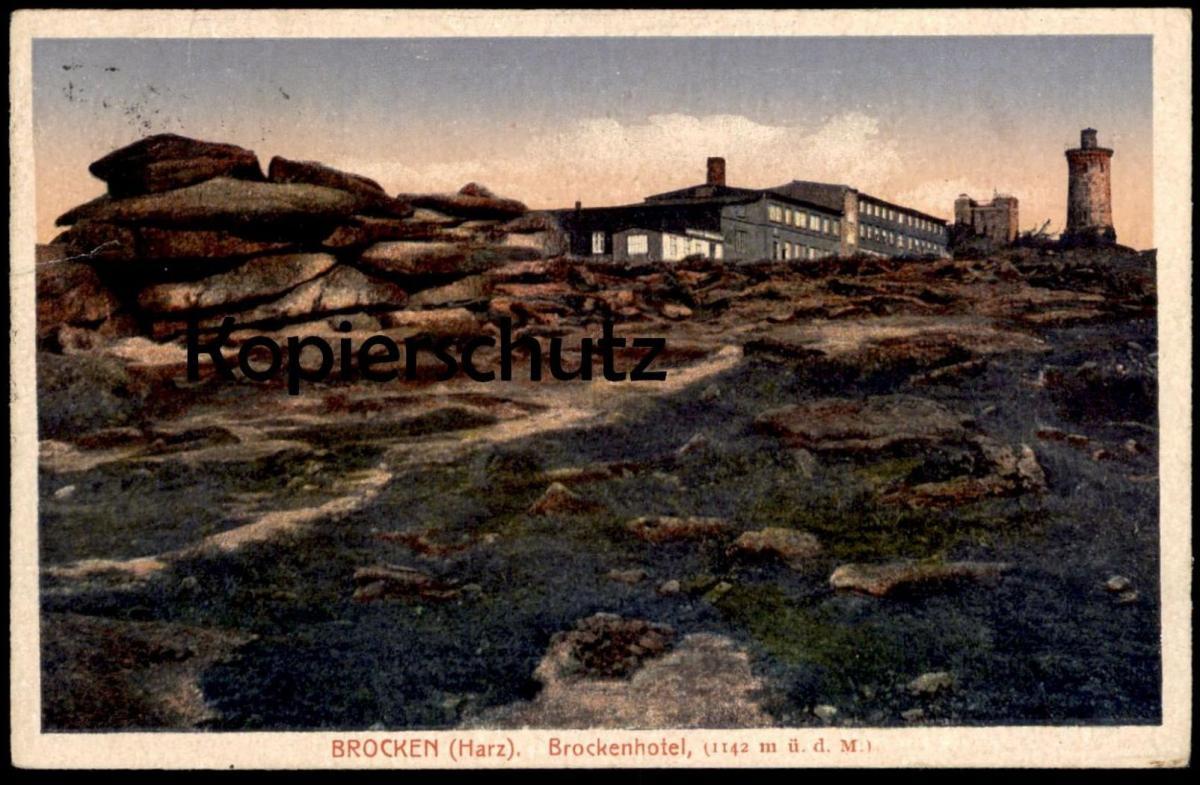 ALTE POSTKARTE BROCKEN HARZ BROCKENHOTEL SCHIERKE Ansichtskarte postcard cpa AK