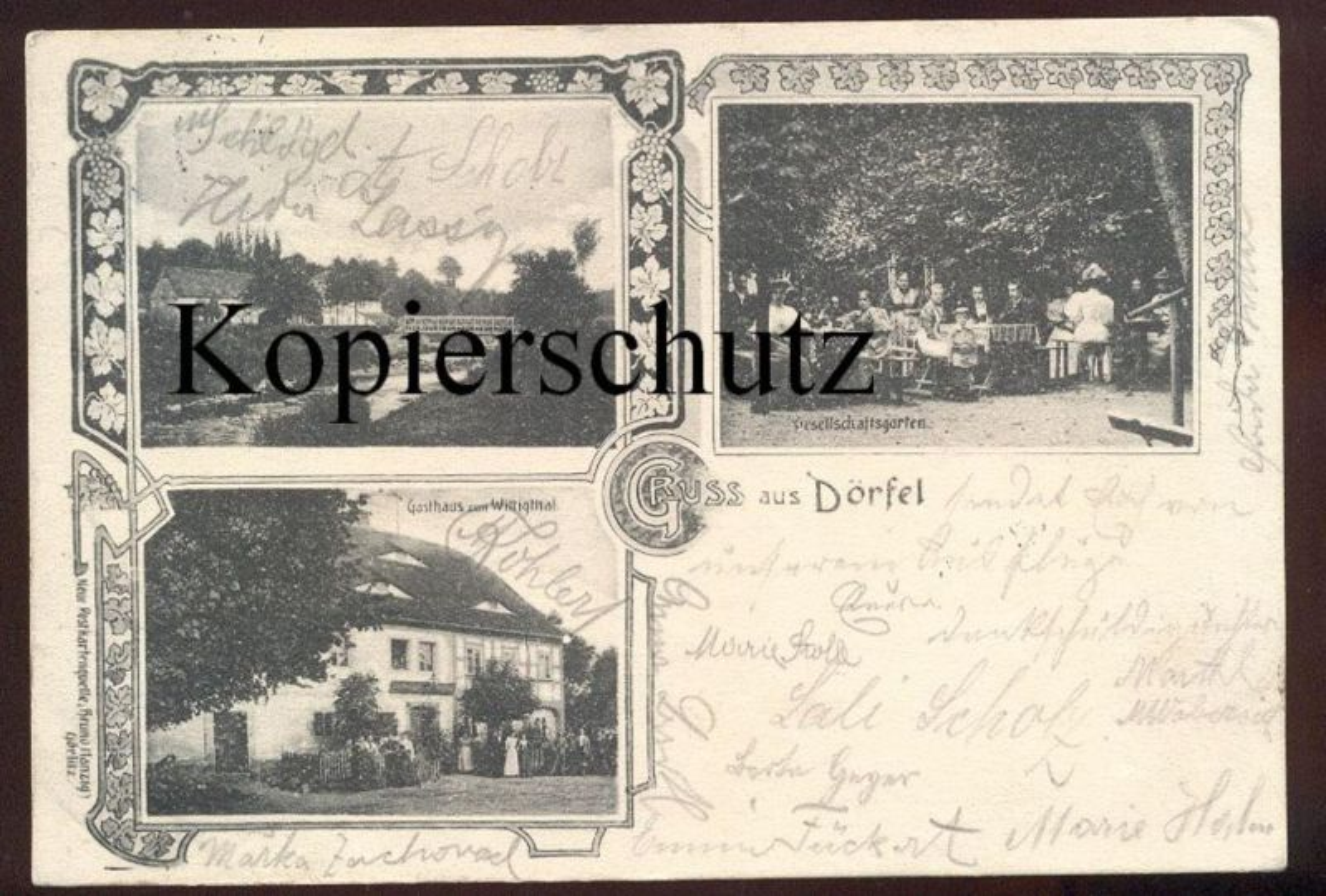 ALTE POSTKARTE GRUSS AUS DÖRFEL SUDETEN VISKA bei VISNOVA FRYDLANT WEIGSDORF Ansichtskarte postcard cpa AK