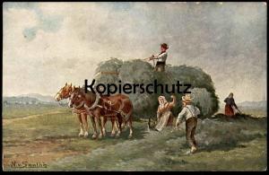ALTE POSTKARTE N. VON SANTHE BAUERN ERNTE harvest BLESSE Ansichtskarte postcard cpa AK