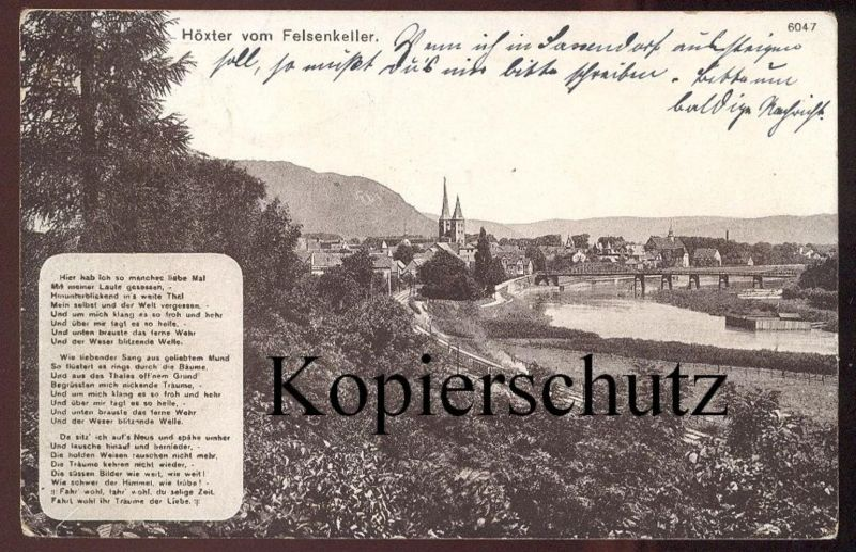 ALTE POSTKARTE HÖXTER VOM FELSENKELLER GEDICHT Ansichtskarte postcard cpa AK