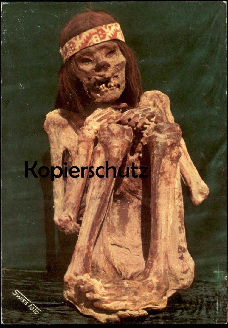 ÄLTERE POSTKARTE NAZCA CULTURE PERU Cultura Momia de hombre Museo Regional de Ica Südamerika Ansichtskarte postcard cpa