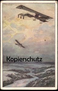 ALTE POSTKARTE DOPPELDECKER HANS RUDOLF SCHULZE Flugzeug Plane Airplane Avion warship biplane double-decker Braunsberg