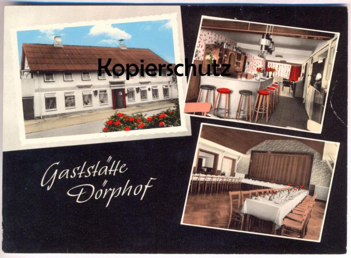 ÄLTERE POSTKARTE GASTSTÄTTE DÖRPHOF LOTHAR REMIEN Kreis Eckernförde Ansichtskarte AK cpa postcard