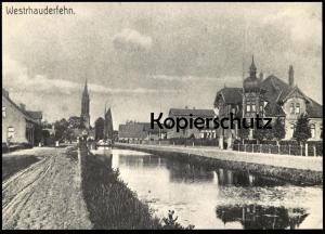 ÄLTERE POSTKARTE WESTRHAUDERFEHN REPRO RAJEN MIT BLICK ZUR KIRCHE UM 1910 Rhauderfehn Ansichtskarte AK cpa postcard