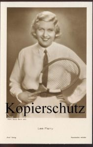 ALTE POSTKARTE LEE PARRY FILM-SCHAUSPIELERIN TENNIS RACKET Tennisschläger Actress actor Verlag Ross Atelier Balazs cpa