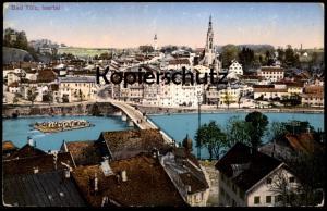 ALTE POSTKARTE BAD TÖLZ ISARTAL Floß Flößer Flößerei floating rafting timber Ansichtskarte cpa AK postcard