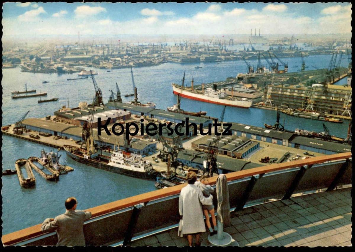 ÄLTERE POSTKARTE ROTTERDAM PANORAMA VANAF EUROMAST HAVEN Hafen harbour port Schiff cargo ship Ansichtskarte postcard AK