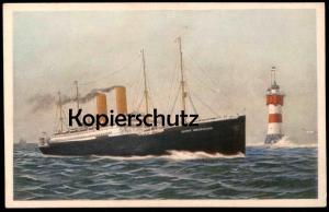 ALTE POSTKARTE DAMPFER GEORGE WASHINGTON LEUCHTTURM ROTER SAND bei Wangerooge steam ship Schiff Ansichtskarte postcard