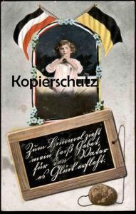 ALTE POSTKARTE KIND IM GEBET 1. WELTKRIEG FÜR DEN VATER ES GLÜCK ERFLEHT PATRIOTIKA Patriotismus Ansichtskarte postcard