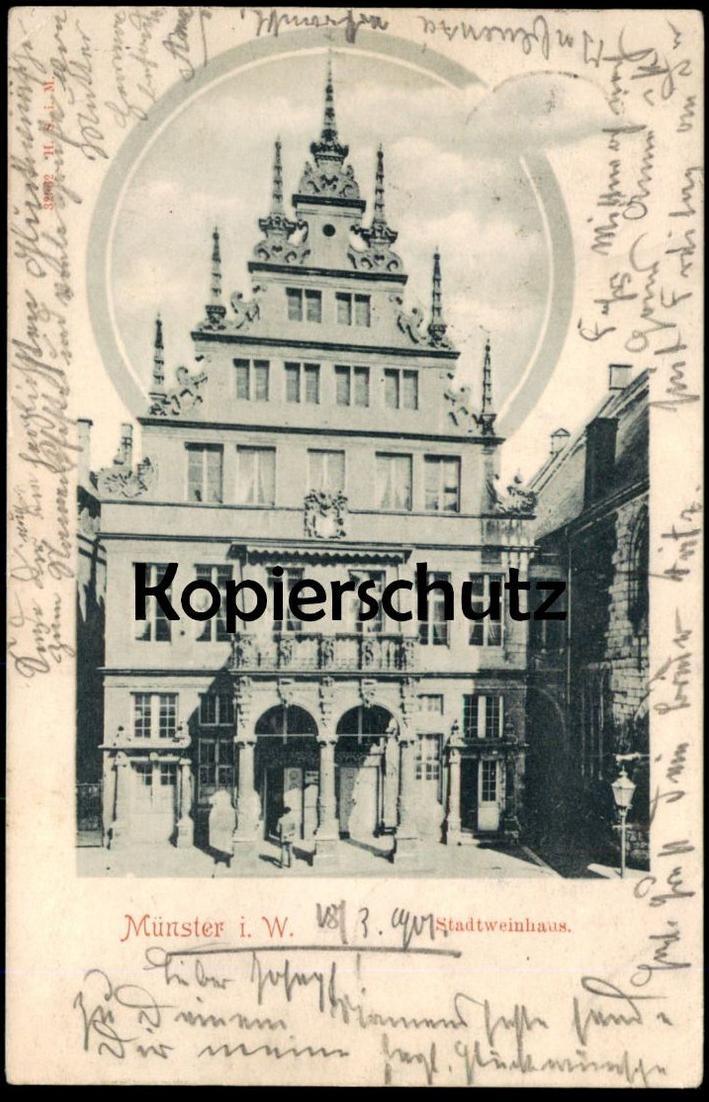 ALTE POSTKARTE MÜNSTER WESTFALEN STADTWEINHAUS 1901 Ansichtskarte postcard cpa AK