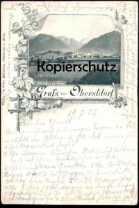 ALTE POSTKARTE GRUSS AUS OBERSTDORF VON NORDEN 1902 ALLGÄU Bayern Ansichtskarte AK cpa