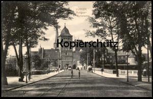 ALTE POSTKARTE LÜBECK BURGTOR-PANORAMA Strassenbahn tram tramway tour tower Luebeck Ansichtskarte AK postcard cpa