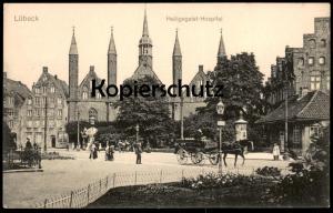ALTE POSTKARTE LÜBECK HEILIGEGEIST-HOSPITAL Krankenhaus Luebeck Ansichtskarte AK postcard cpa