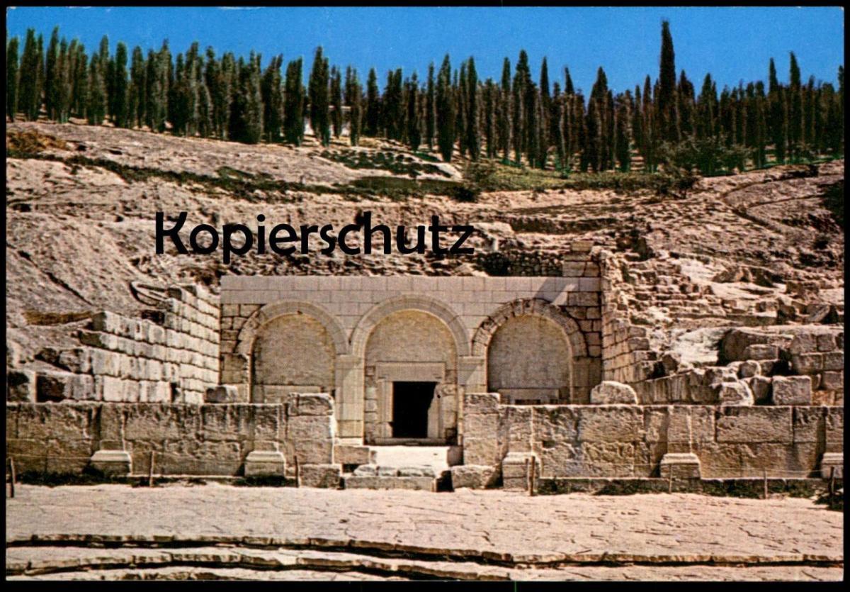 ÄLTERE POSTKARTE ISRAEL BETH SHEARIM CATACOMBS Kiryat Beth Sche'Arim Ansichtskarte cpa postcard AK