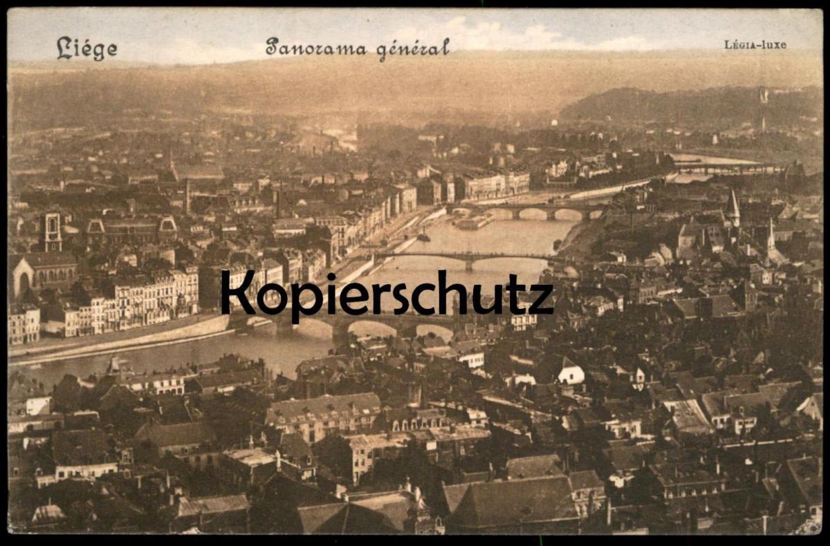 ALTE POSTKARTE LIÉGE PANORAMA GÉNÉRAL Légia Luxe Lüttich Total Totalansicht Ansichtskarte cpa postcard AK