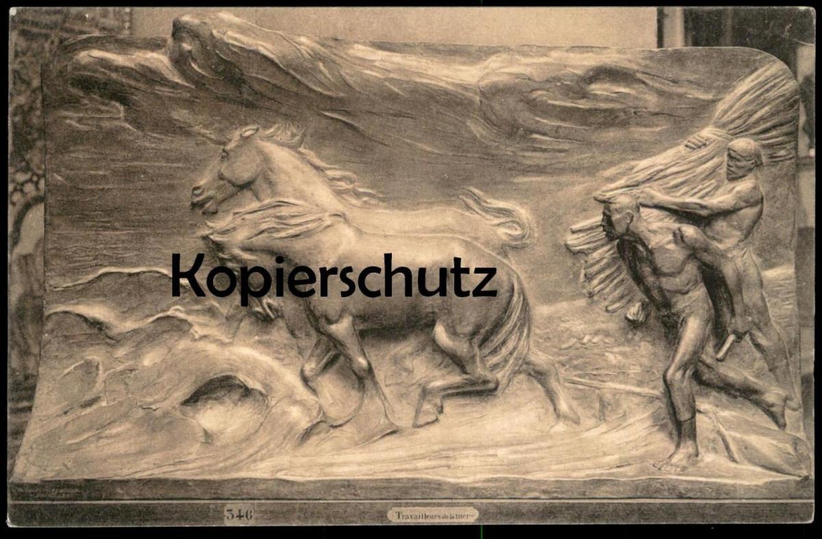 ALTE POSTKARTE MUSÉE DE BRUXELLES TRAVAILLEURS DE LA MER PAR C. MEUNIER Brüssel Ansichtskarte cpa postcard AK